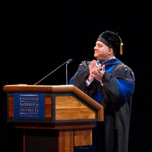 Professor Jeffrey Brand at the 2012 Induction Ceremony